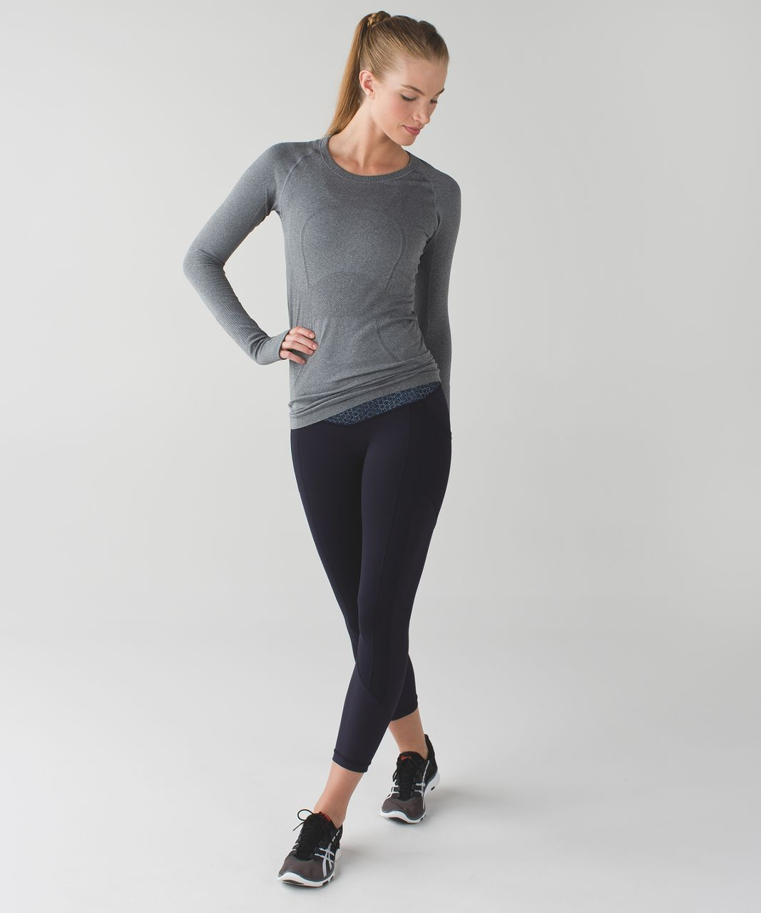 Lululemon All The Right Places Crop - Naval Blue / Star Pixel Aquamarine Naval Blue