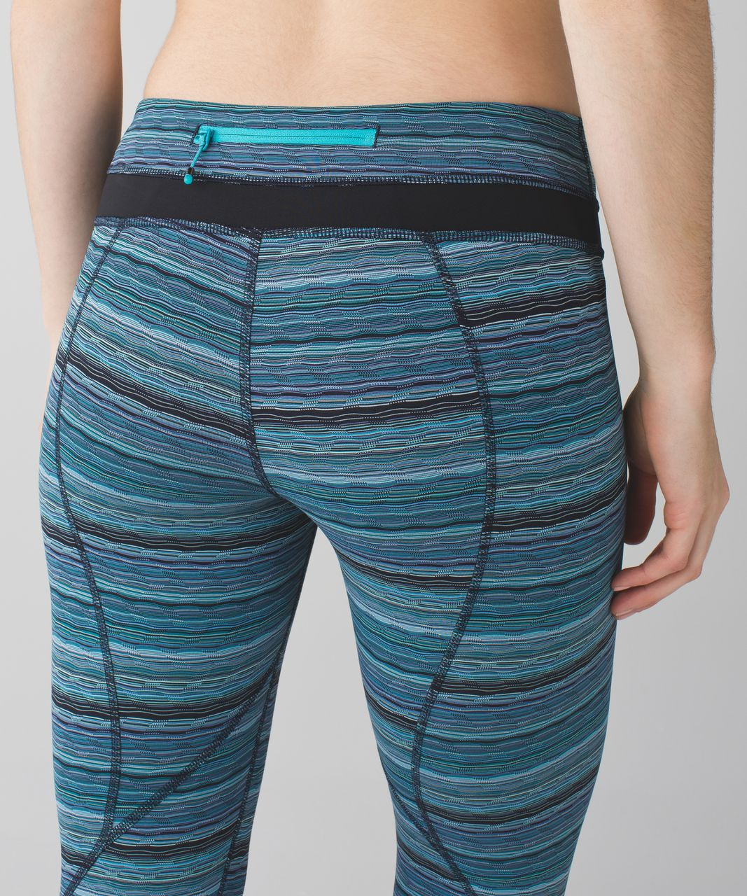 Lululemon Run:  Inspire Crop II *All Luxtreme - Space Dye Twist Naval Blue Peacock Blue / Black