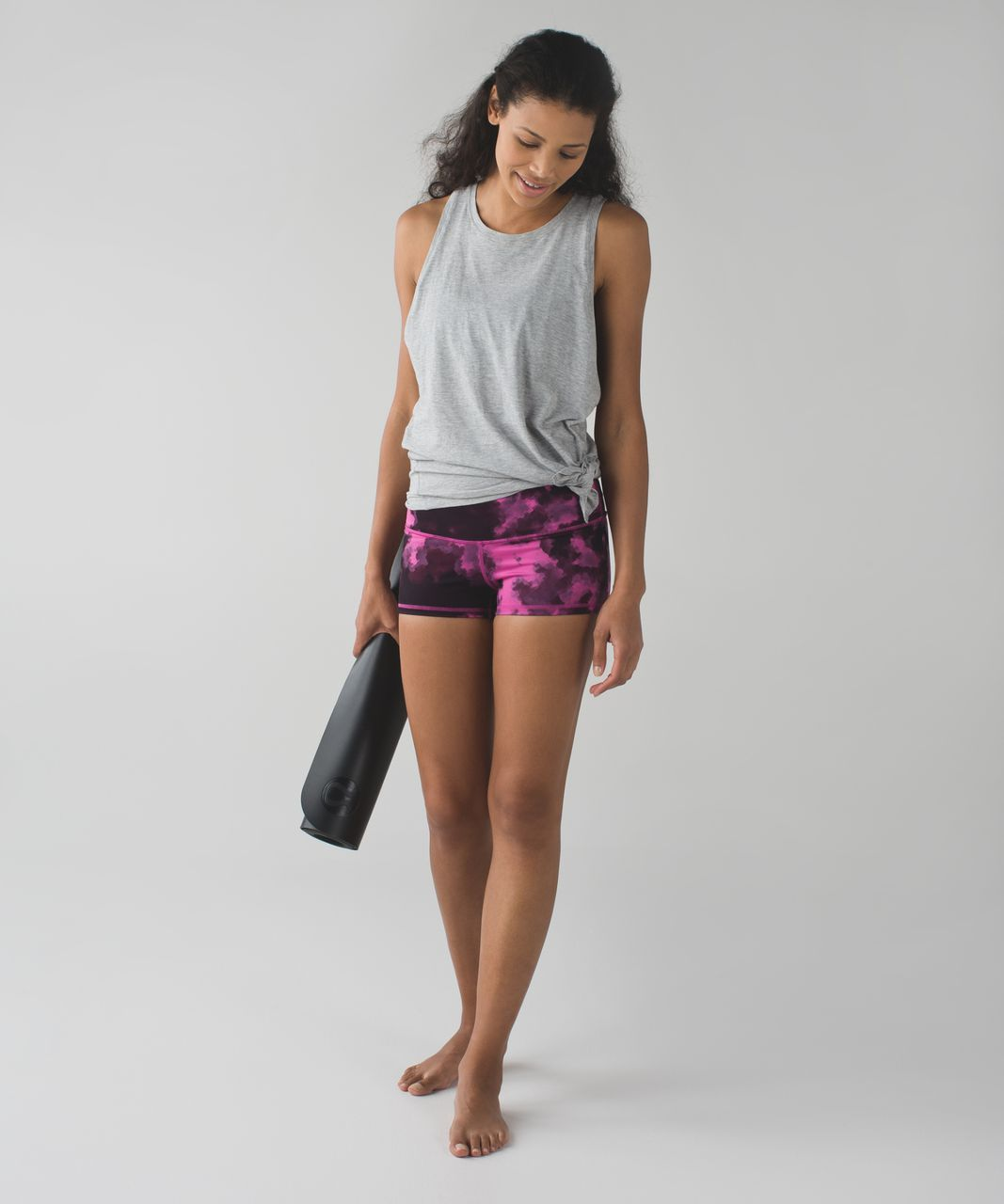 Lululemon Boogie Short (Roll Down) *Full-On Luon - Blooming Pixie Raspberry Black