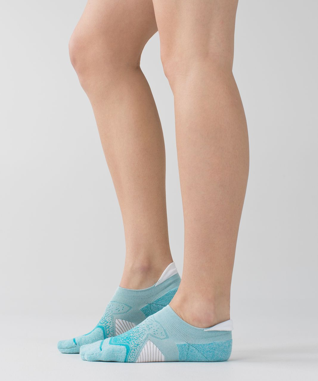 Lululemon Speed Sock *Silver - Peacock Blue / Aquamarine
