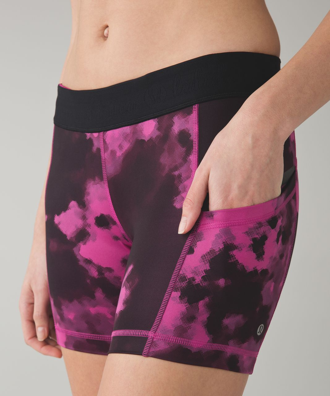 Lululemon What The Sport Short II - Blooming Pixie Raspberry Black