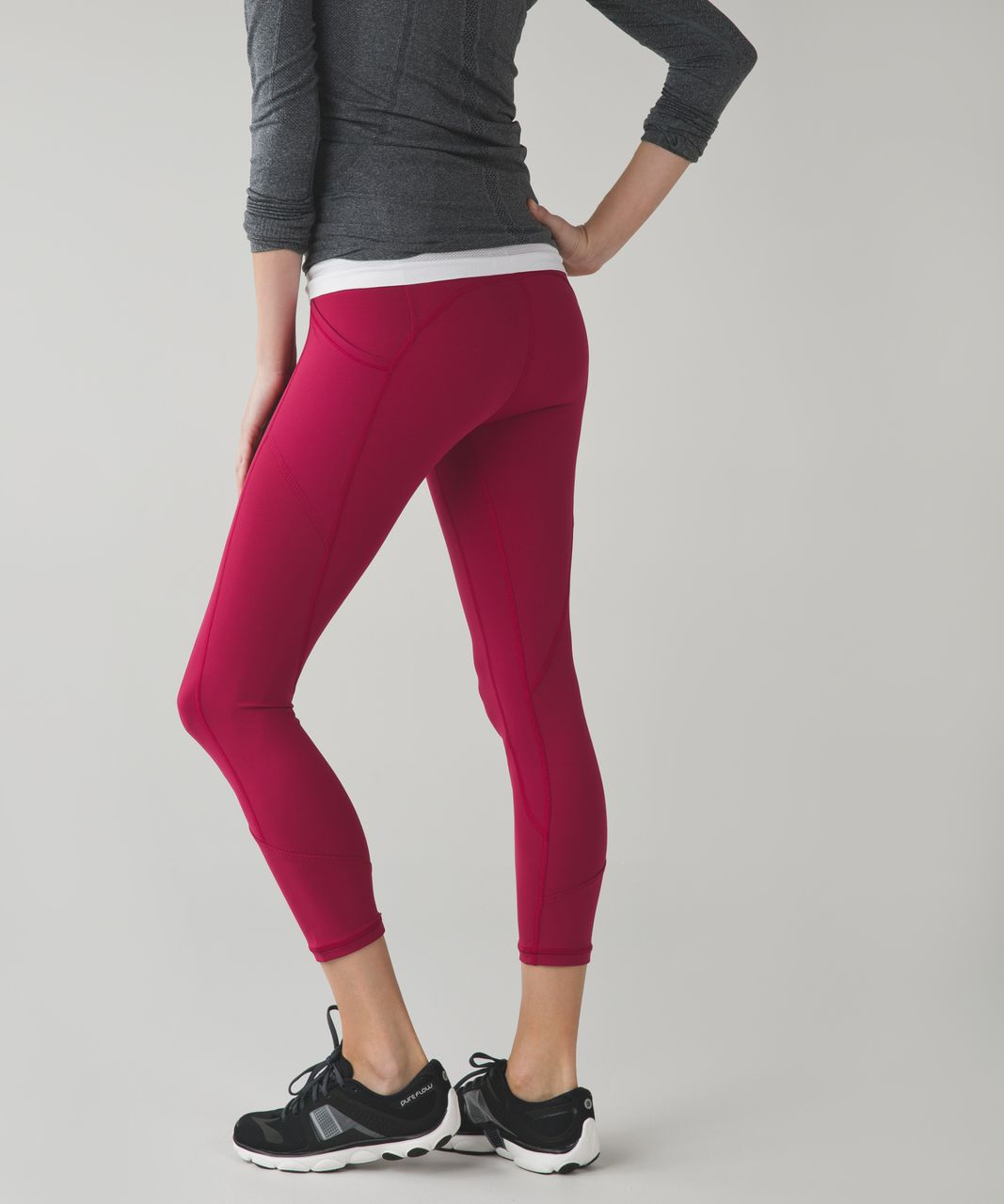 Lululemon All The Right Places Crop - Berry Rumble