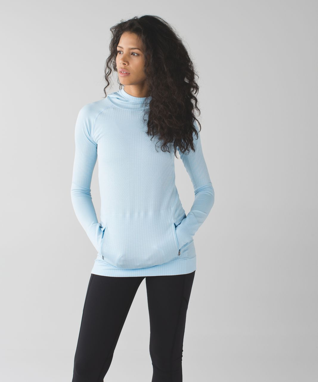 Lululemon Rest Less Hoodie - Heathered Caspian Blue