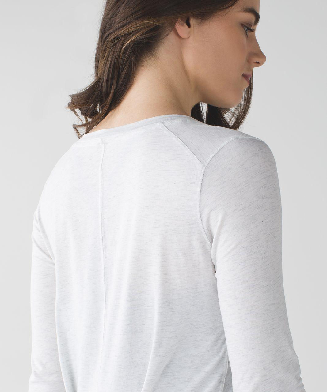 Lululemon Let Be Long Sleeve Tee - Heathered White