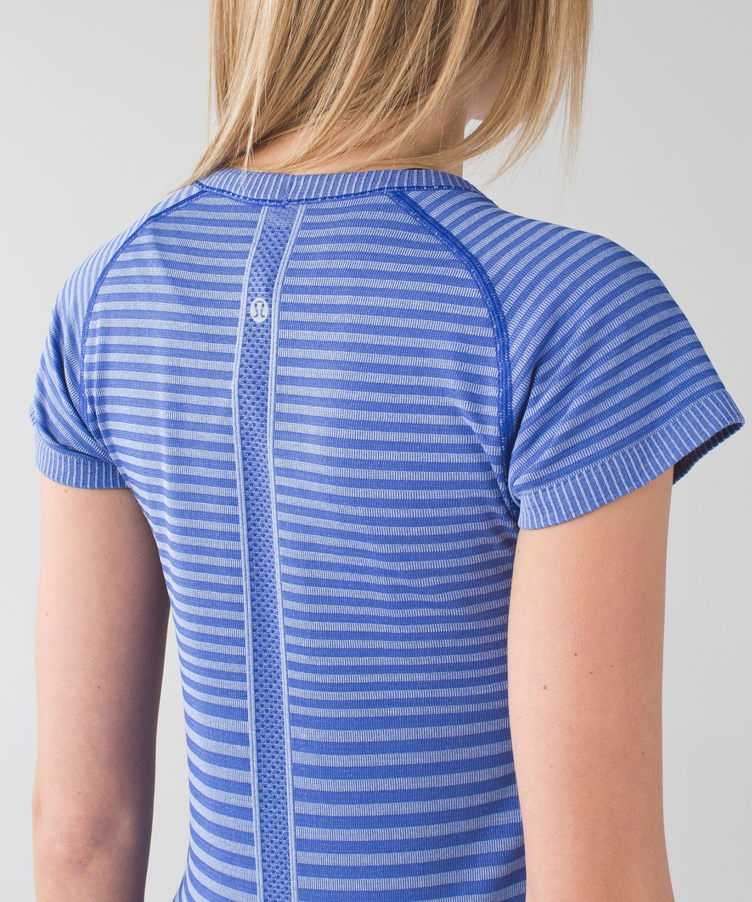 Lululemon Swiftly Tech Short Sleeve Crew - Heathered Sapphire Blue
