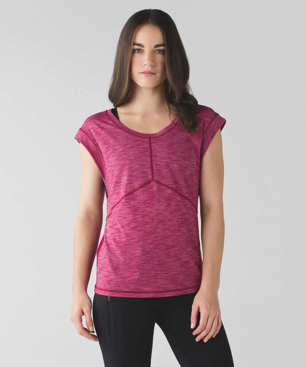 Lululemon Get Sweat Tee - Heathered Berry Rumble / Berry Rumble