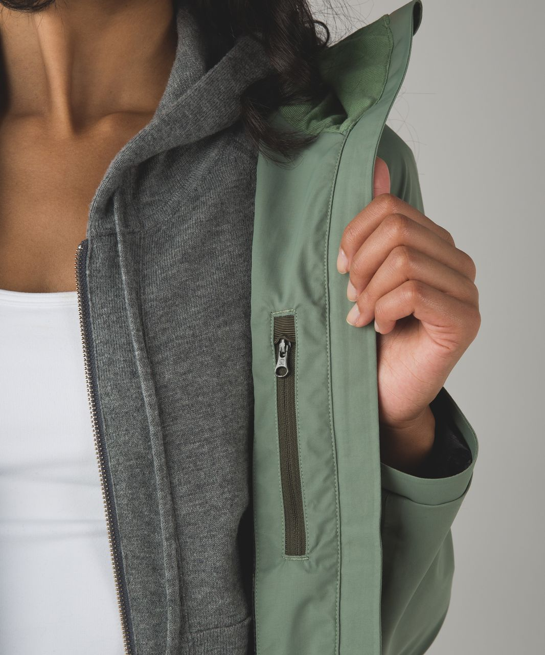 Lululemon Definitely Raining Jacket - Desert Olive