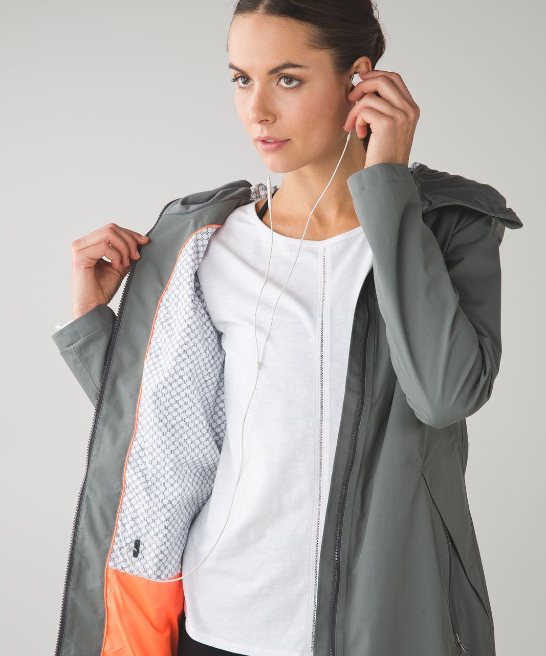 Lululemon Definitely Raining Jacket - Slate