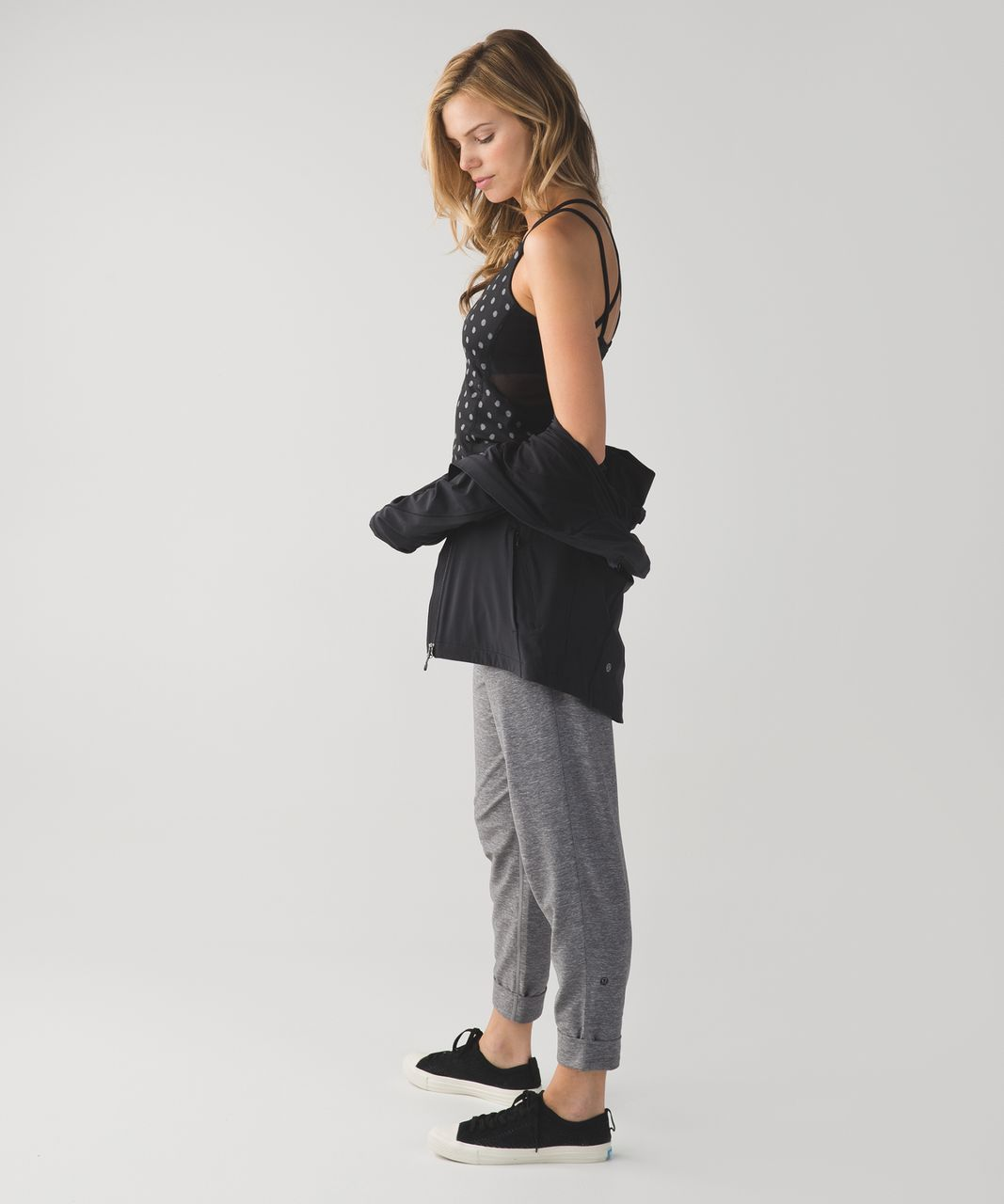 Lululemon Exquisite Tank - Ghost Dot Black Slate / Black
