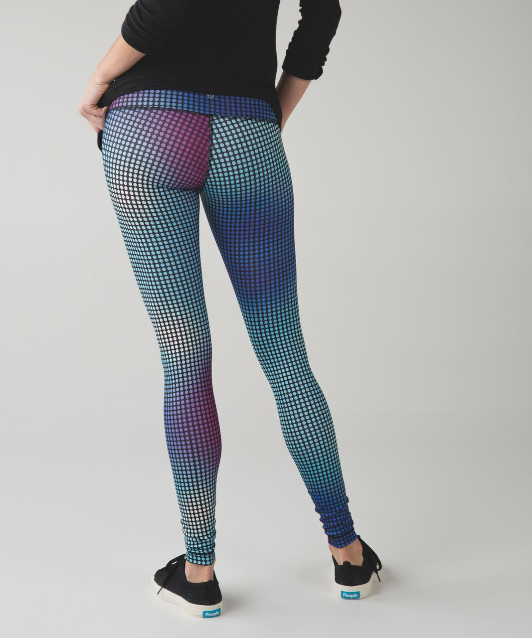 Lululemon Wunder Under Pant III *Full-On Luon - Cosmic Dot White Multi / Black