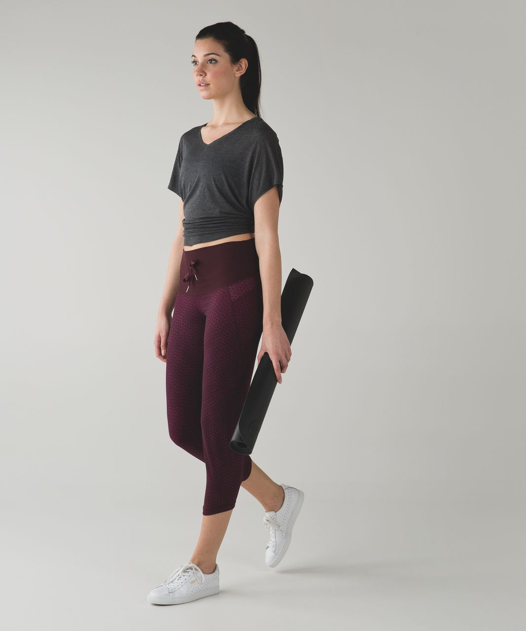 Lululemon Shake It Out Crop - Star Pixel Raspberry Bordeaux Drama / Bordeaux Drama