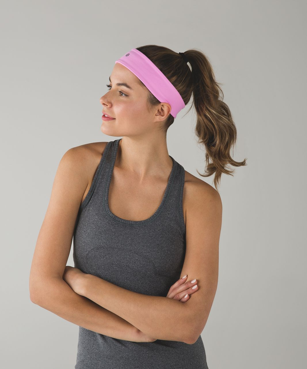 Lululemon Fly Away Tamer Headband II - Vintage Pink