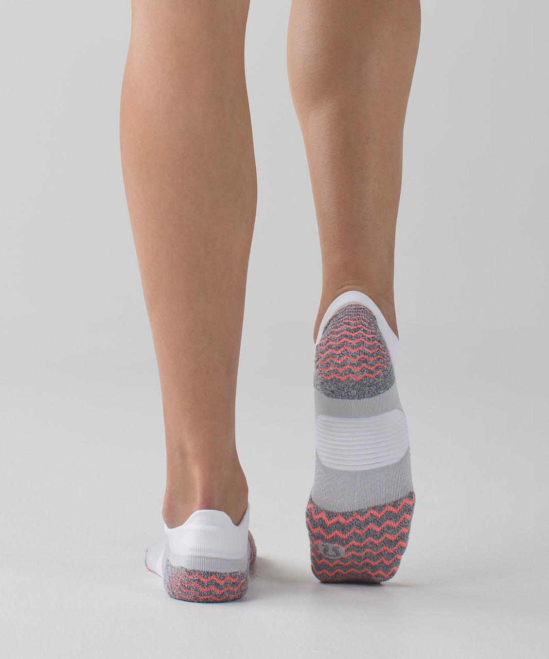 Lululemon Speed Sock - Silver Spoon / Very Light Flare / Dark Slate