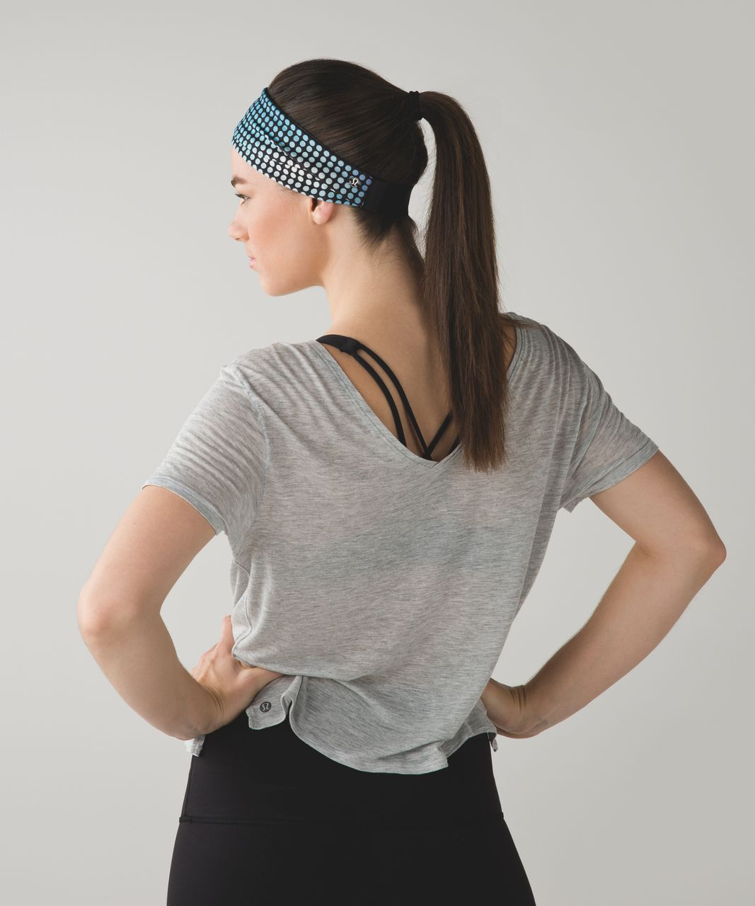 Lululemon Fringe Fighter Headband - Cosmic Dot White Multi / Tiger Space Dye Dark Slate Black