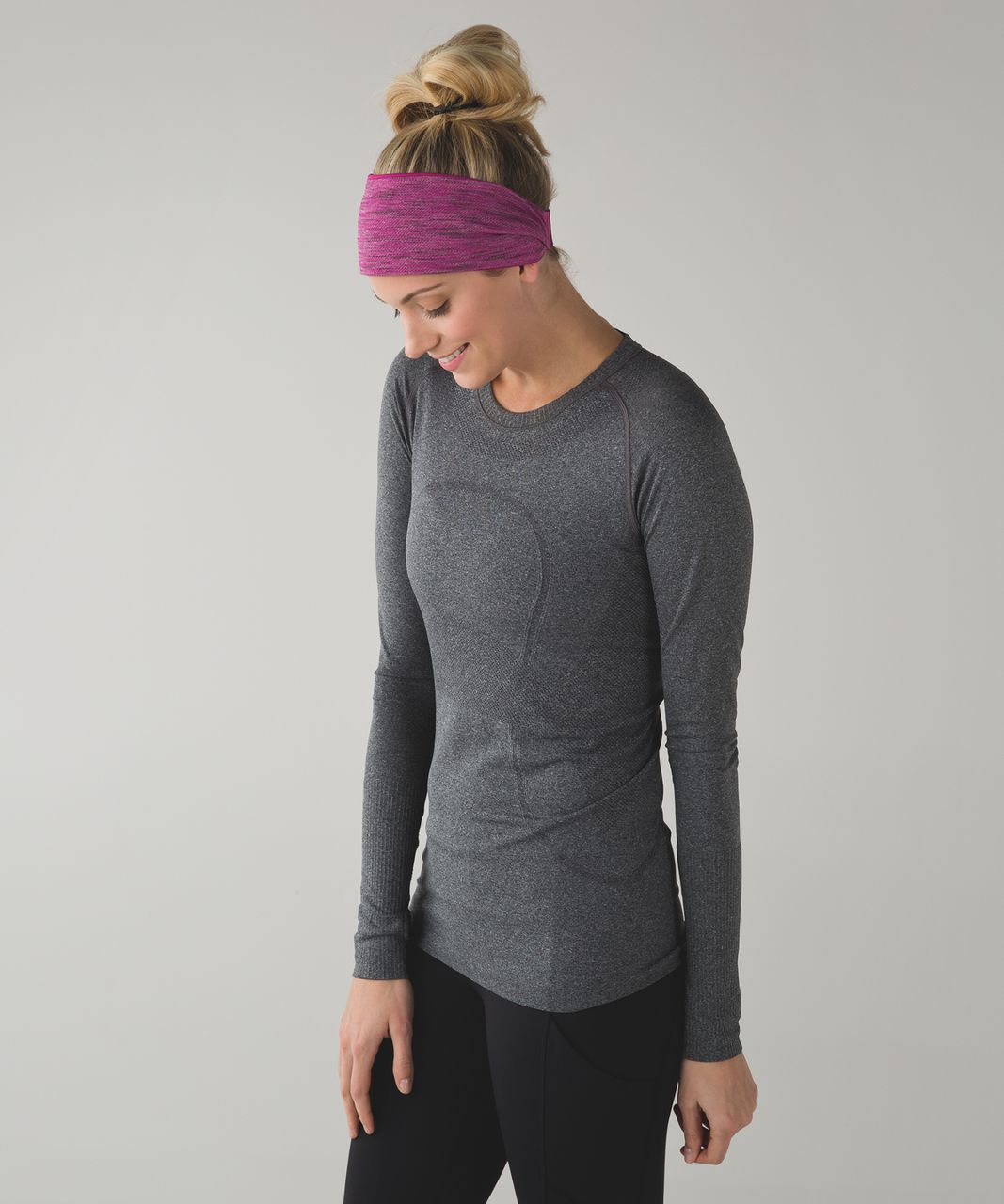 Lululemon Fringe Fighter Headband - Raspberry / Tiger Space Dye Bordeaux Drama Raspberry