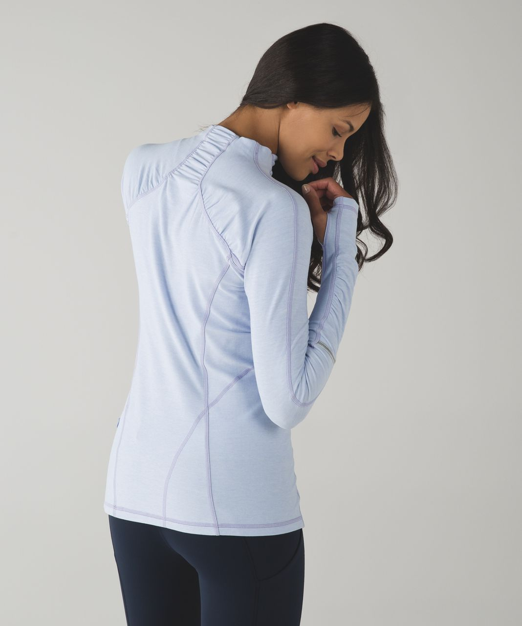 Lululemon Warm It Up Long Sleeve - Heathered Cool Breeze