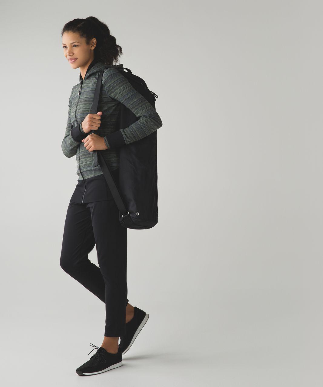 Lululemon Daily Practice Jacket - Space Dye Twist Dark Slate Fatigue Green / Black