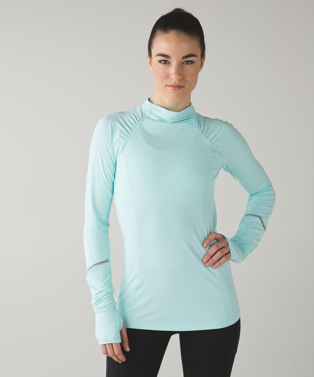 Lululemon Warm It Up Long Sleeve - Heathered Aquamarine