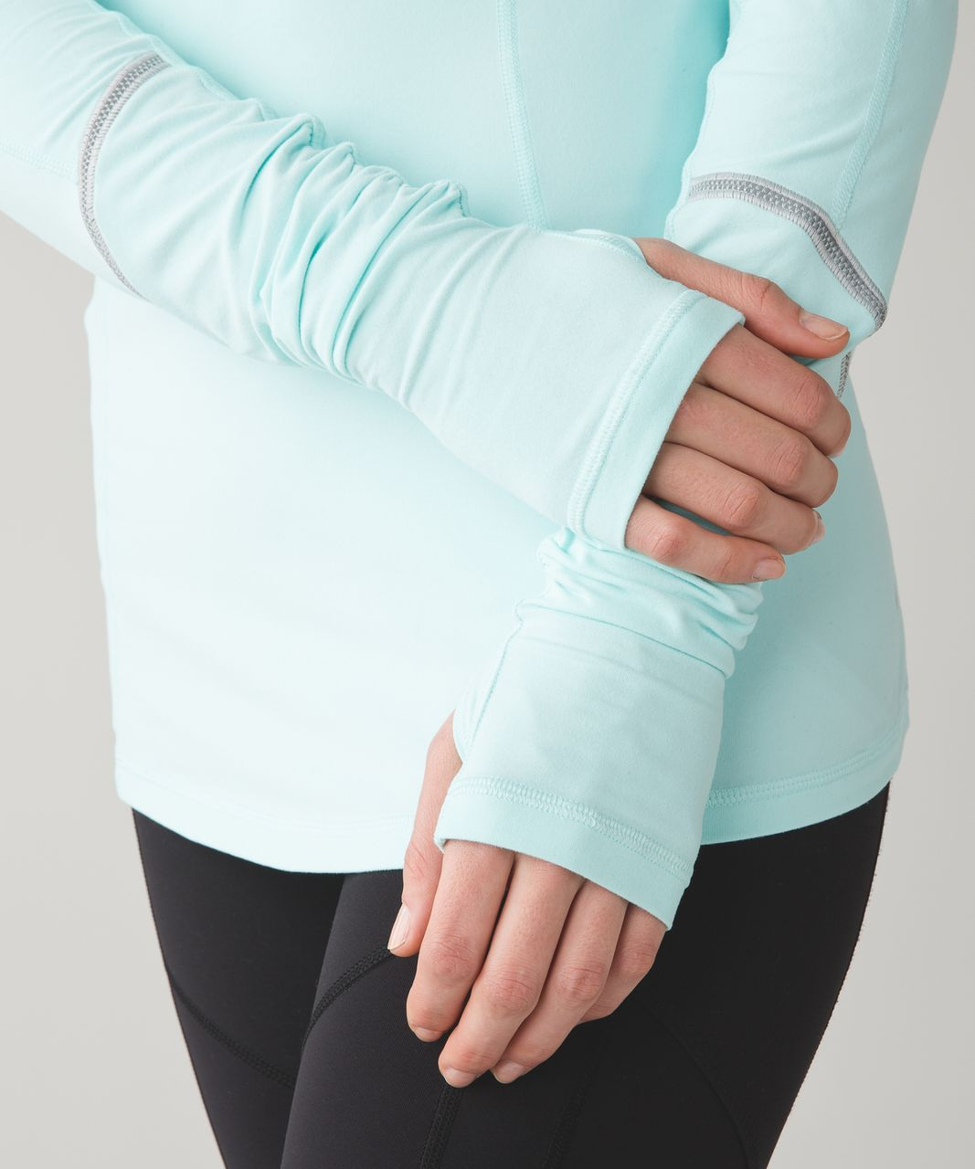 Lululemon Warm It Up Long Sleeve - Heathered Aquamarine