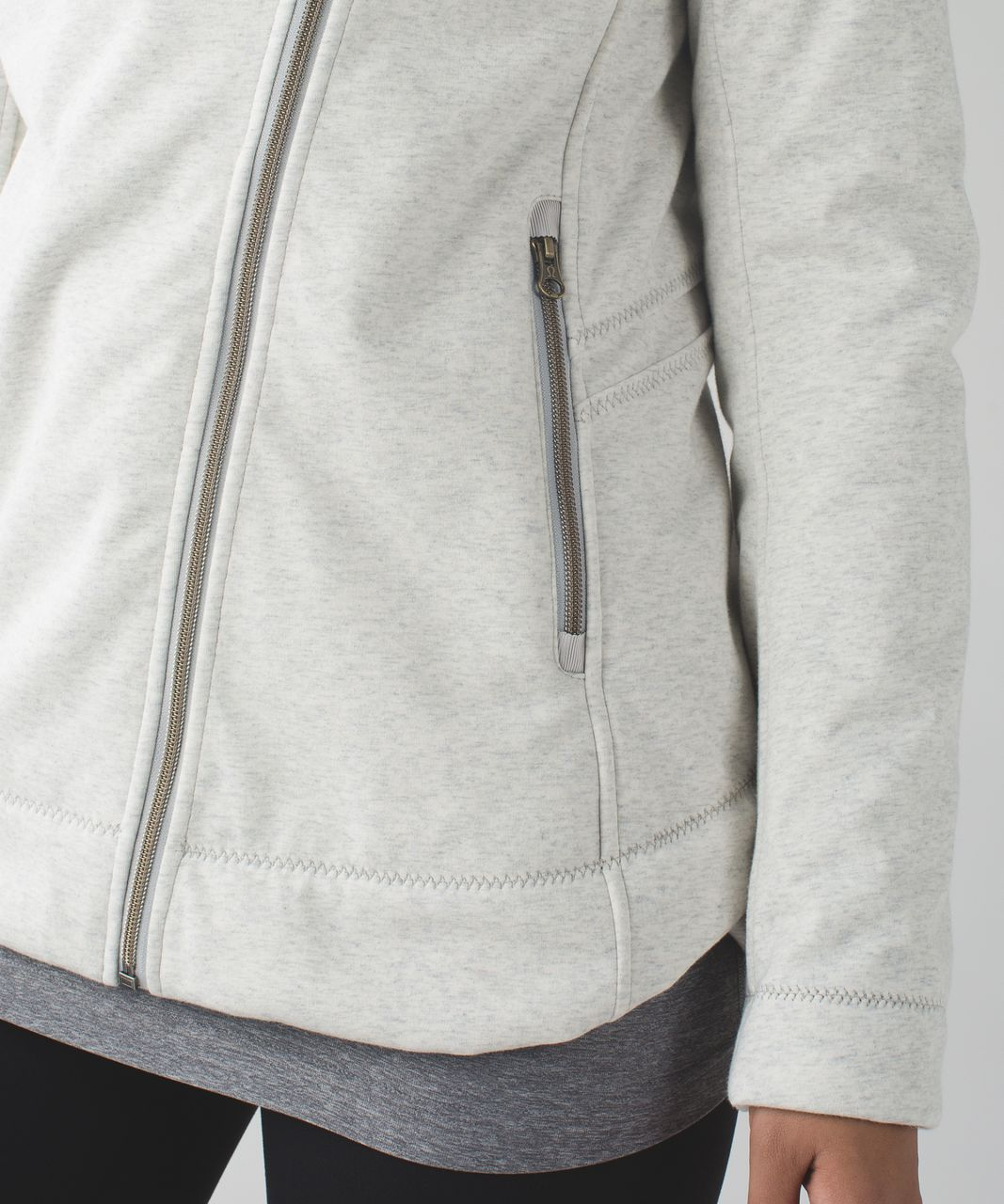 Lululemon Cozy Up Buttercup Jacket - Heathered Silver Spoon