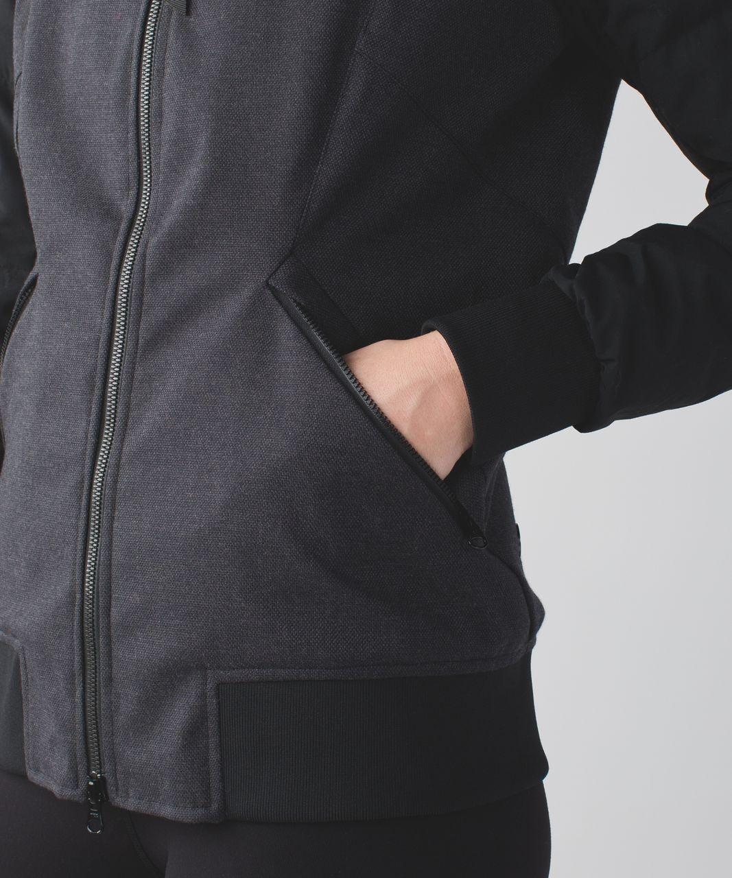 Lululemon Chilly Bomber - Black / Heathered Deep Coal