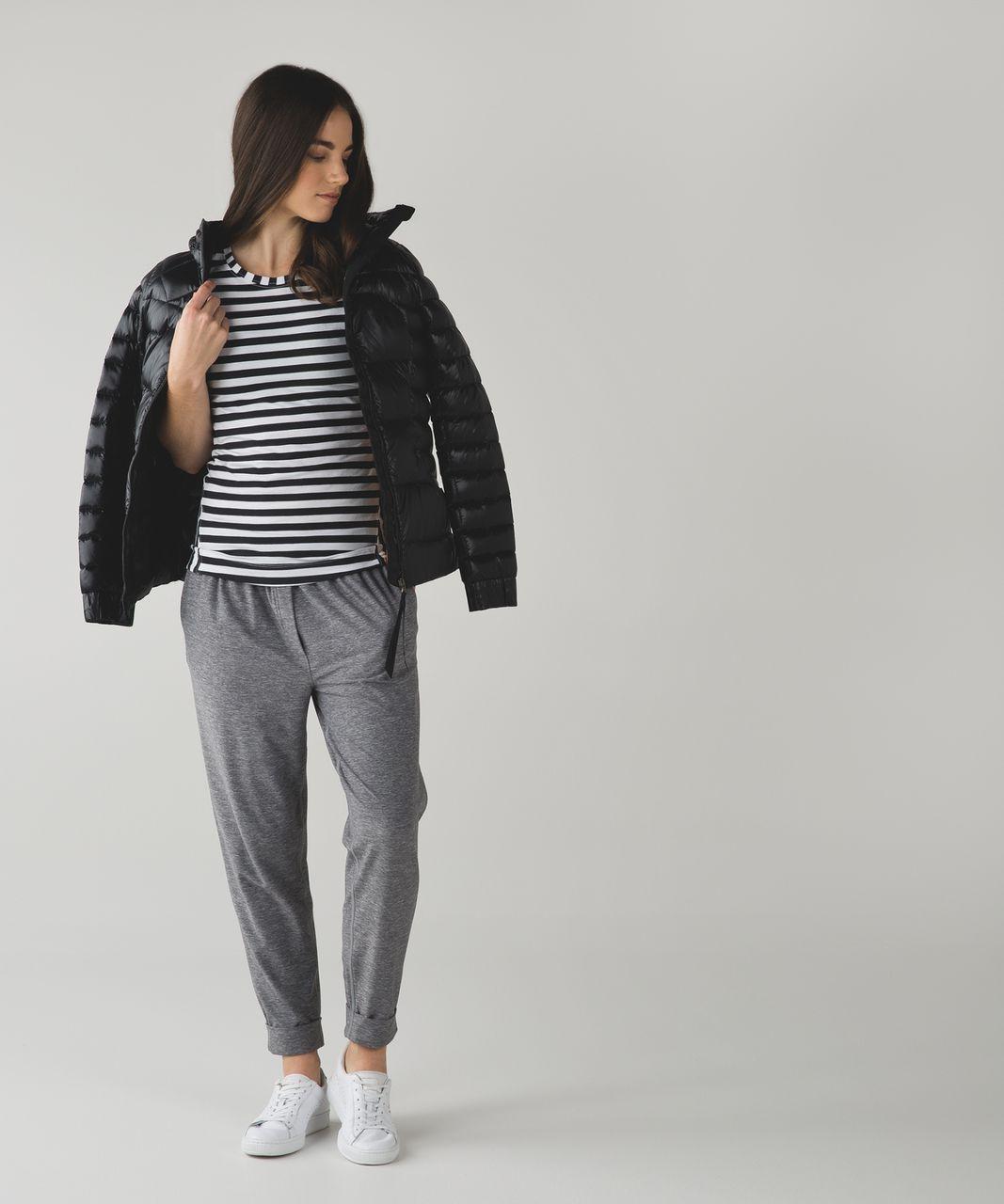 Lululemon Let Be Short Sleeve Tee - Apex Stripe Black White