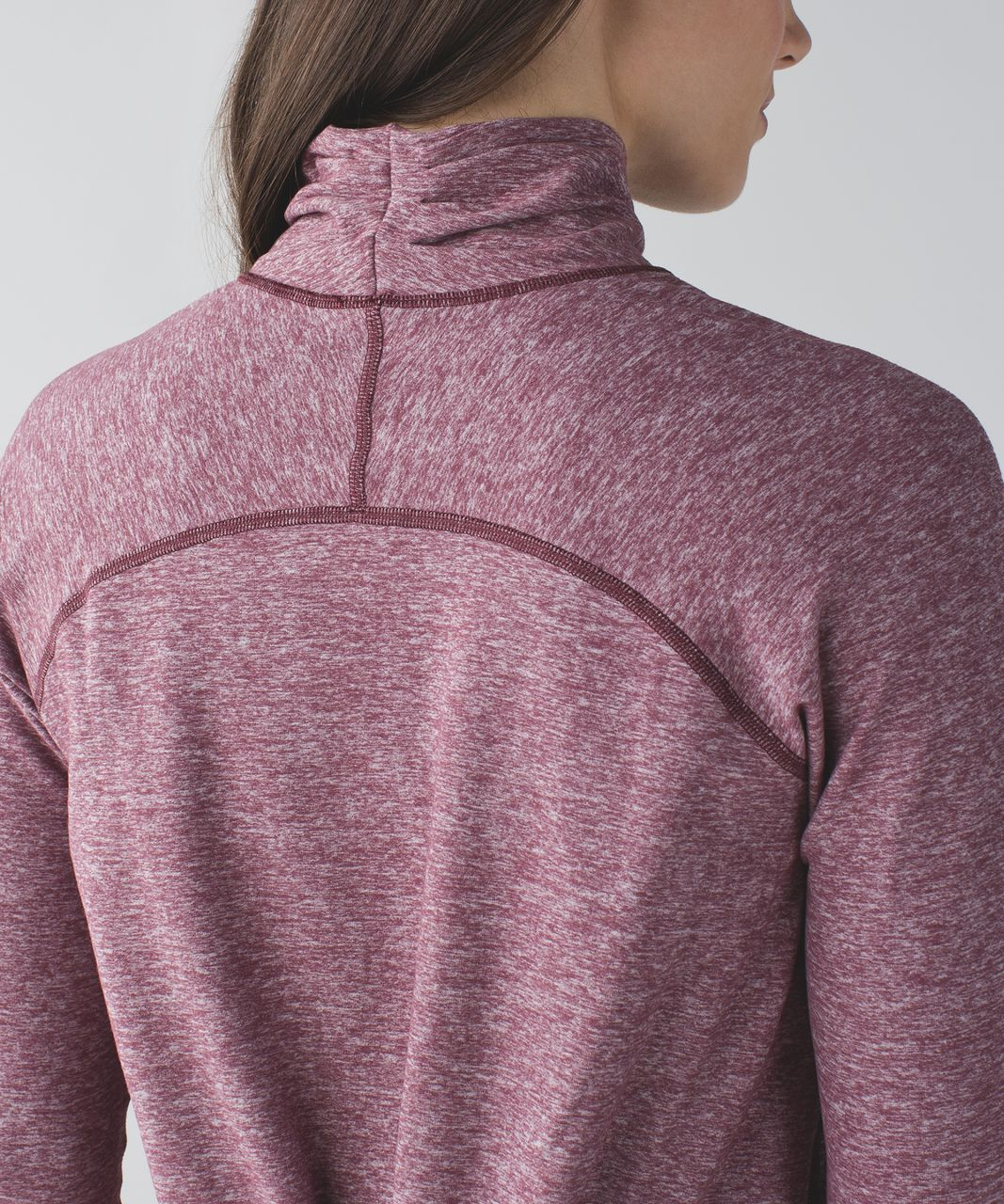 Lululemon Warm Your Core Long Sleeve Tee - Heathered Bordeaux Drama
