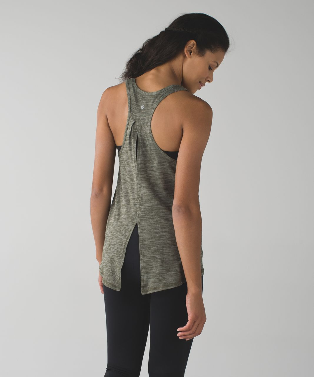 Lululemon Salute the Sun Tank - Heathered Gator Green