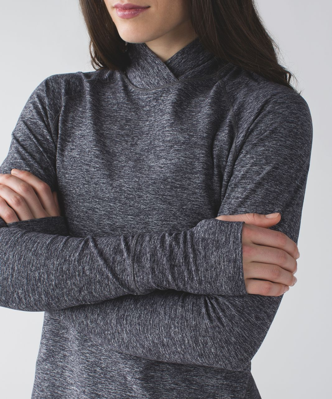 Lululemon Warm Your Core Long Sleeve Tee - Heathered Black