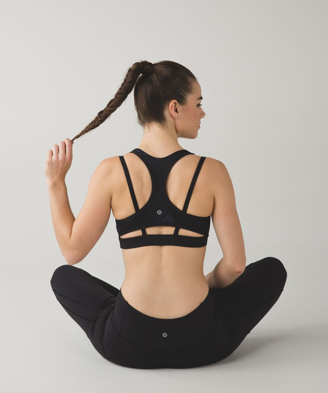 Lululemon Splendour Bra - Wind Chill Deep Navy Black / Black
