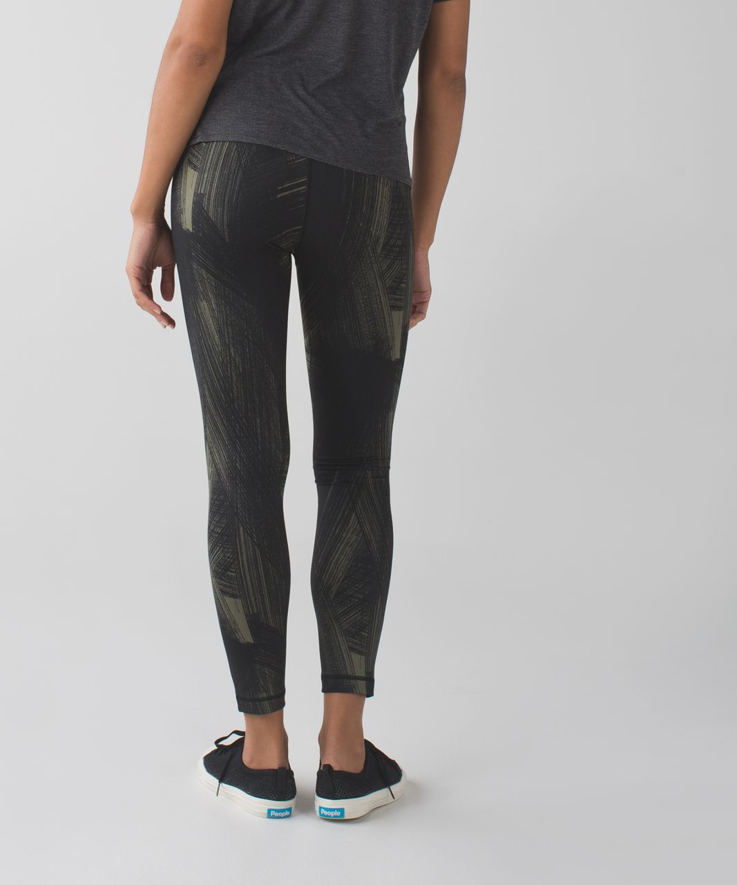 Lululemon High Times Pant *Full-On Luon - Wind Chill Fatigue Green Black
