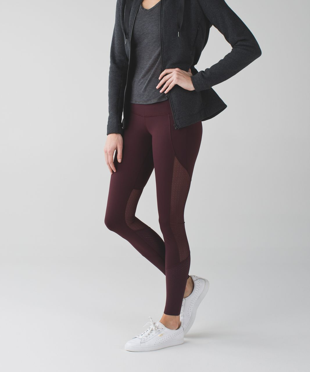Lululemon Barre Star Pant *Full-On Luon - Bordeaux Drama