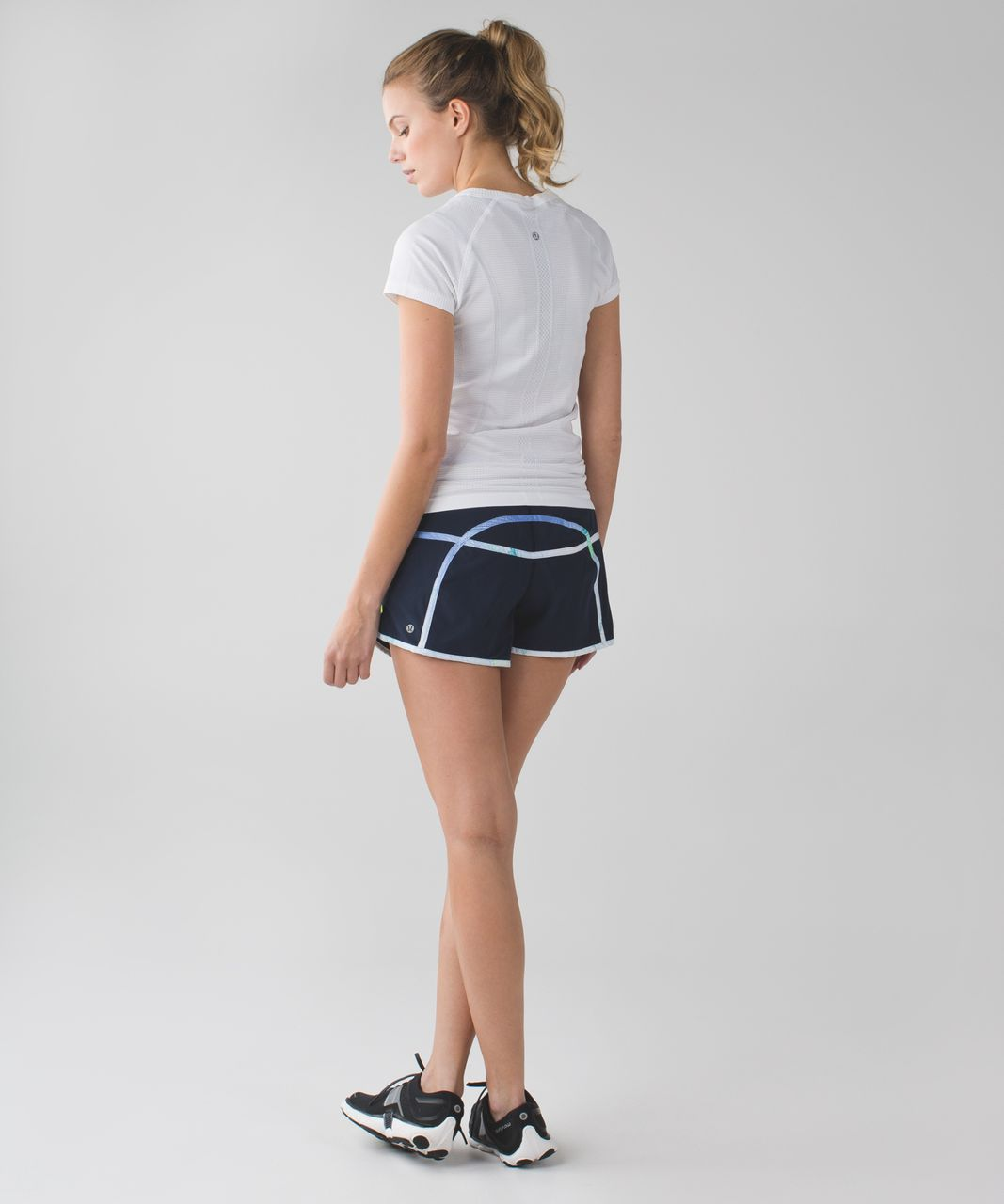 Lululemon Tracker Short III *4-way Stretch - Inkwell / Wind Chill White Lullaby / Lullaby
