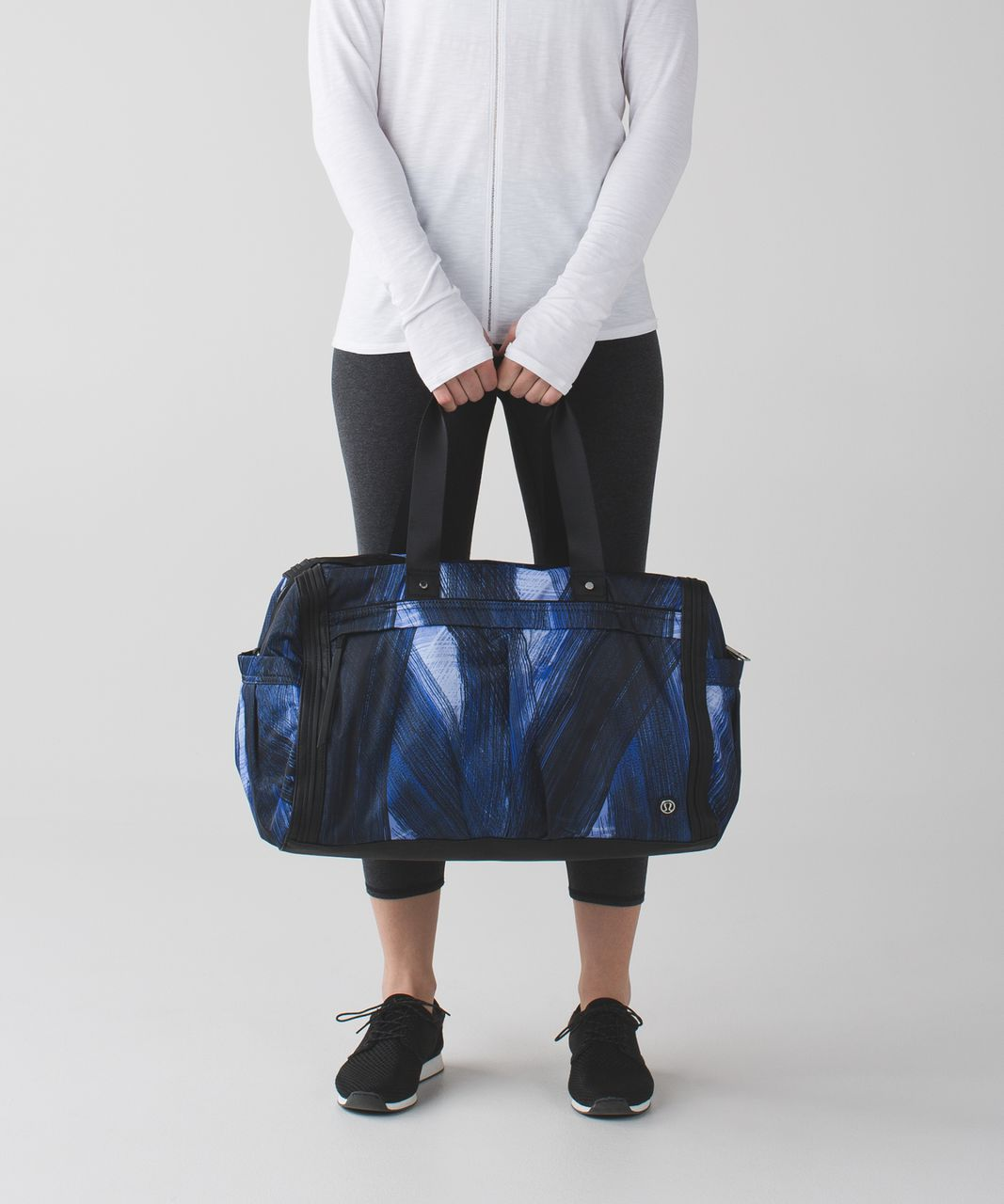 Lululemon Urban Warrior Duffel - Wind Chill Sprinkler Black / Black