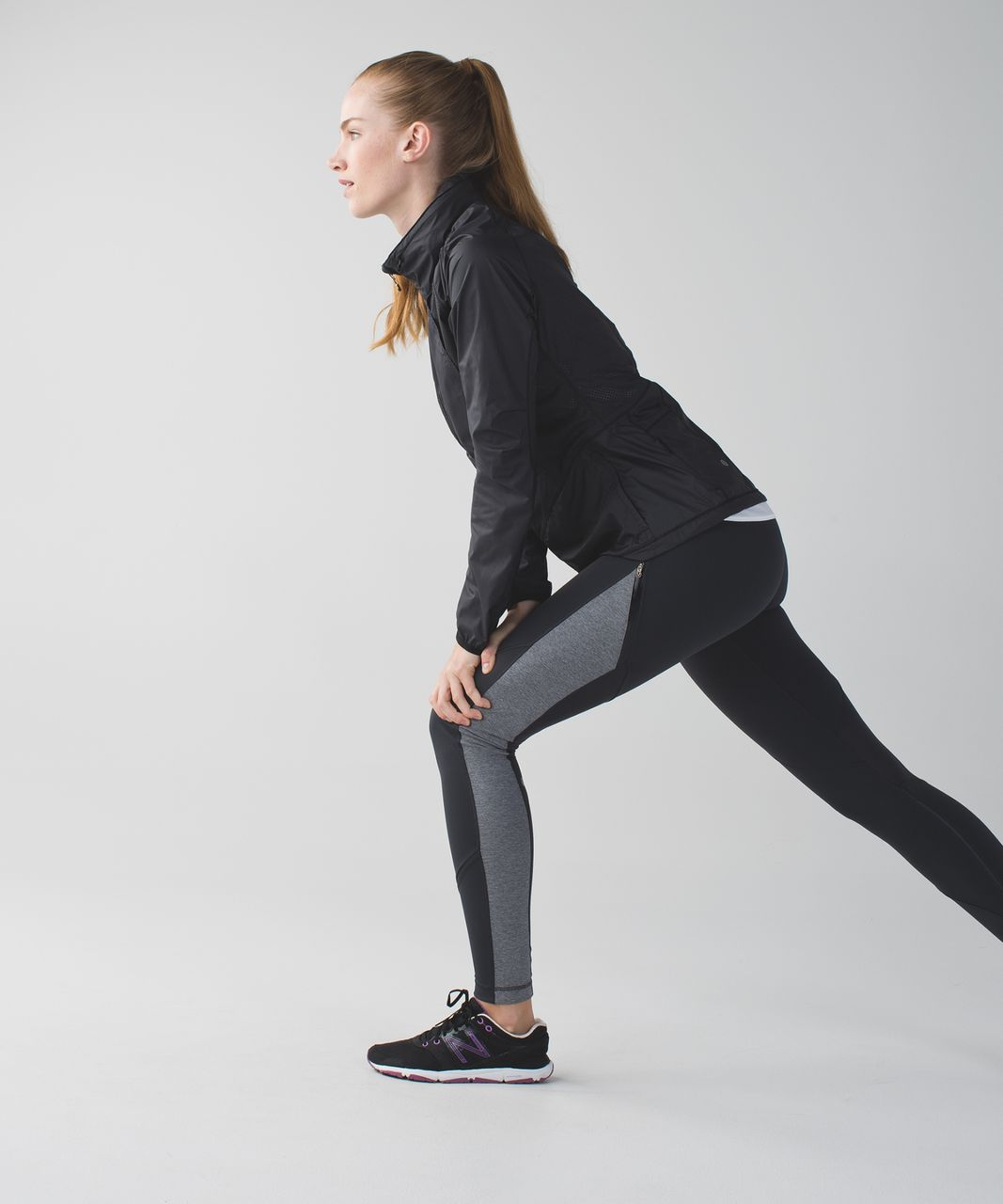 Lululemon Rain-On Train-On Tight - Deep Coal / Heathered Slate