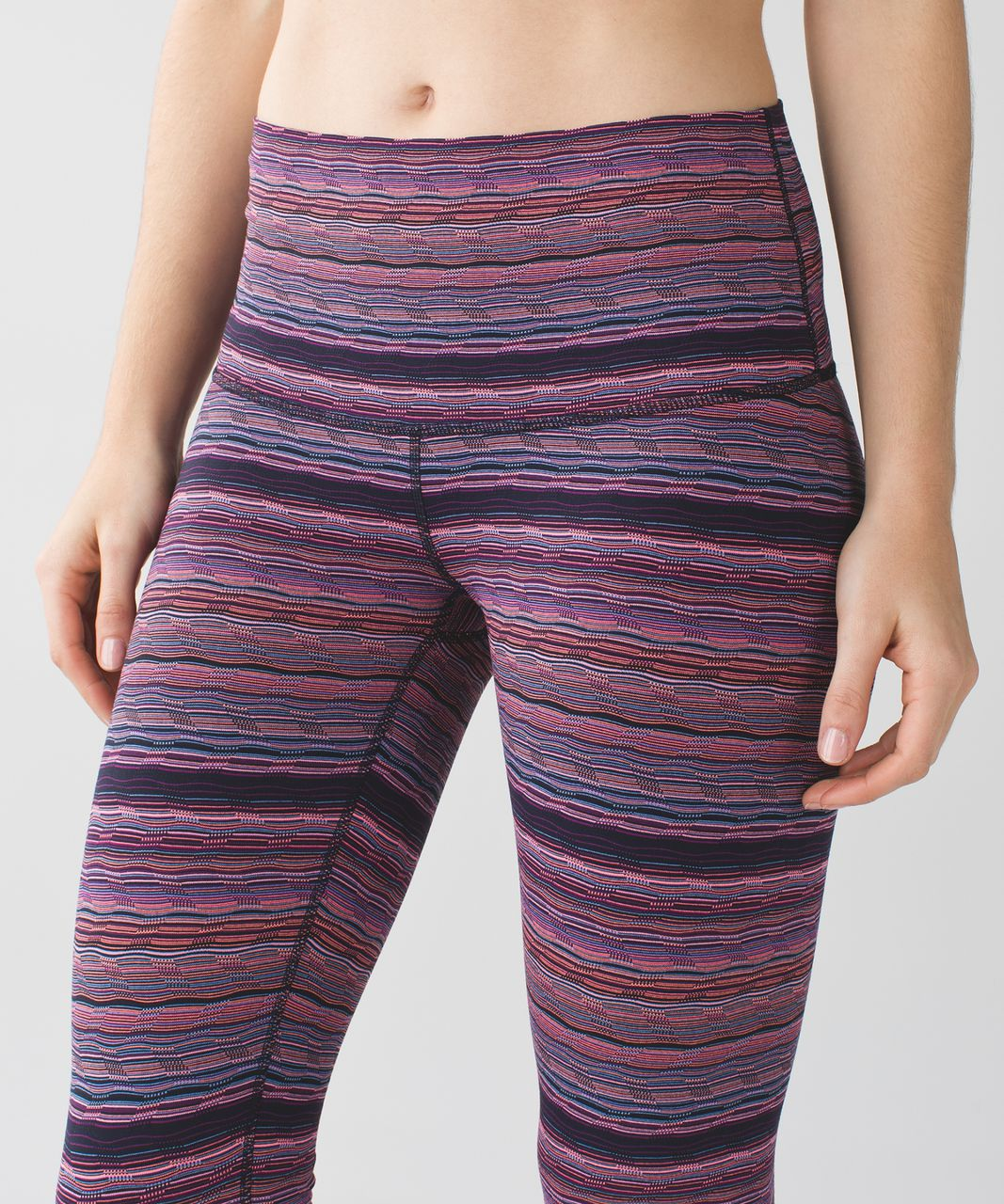 Lululemon Wunder Under Pant (Hi-Rise) - Space Dye Twist Naval Blue Very Light Flare