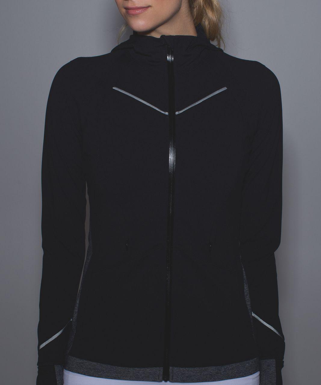 Lululemon Rain-On Train-On Jacket - Black / Heathered Black