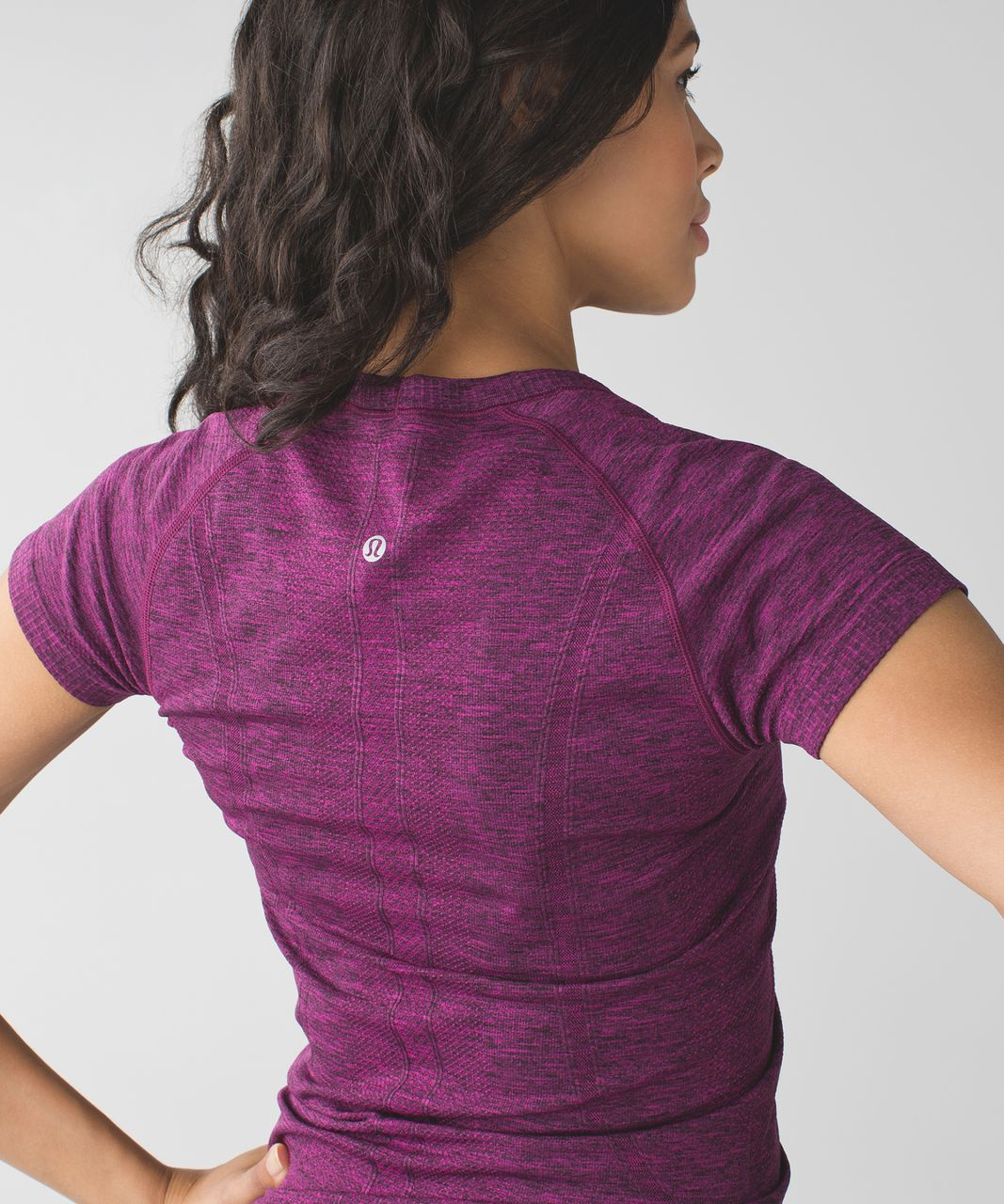 Lululemon Swiftly Tech Short Sleeve Crew - Heathered Raspberry