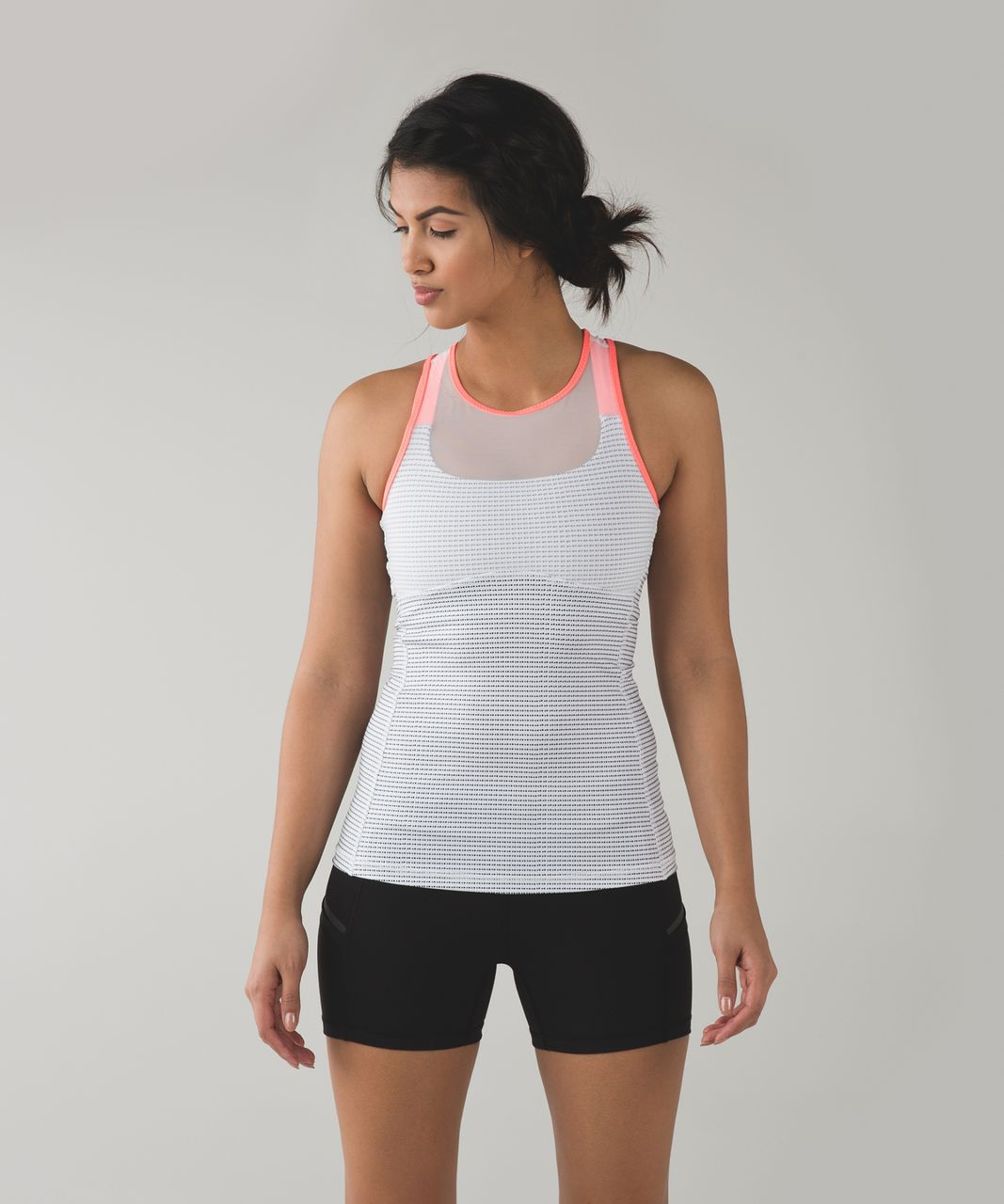 Lululemon Ready, Set, Sweat Tank - Double Dot White Black / Very Light Flare