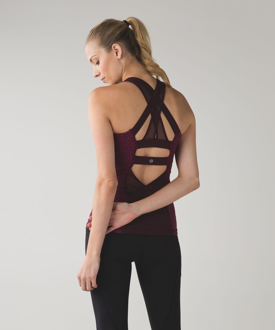 Lululemon Ready, Set, Sweat Tank - Star Pixel Raspberry Bordeaux Drama / Raspberry