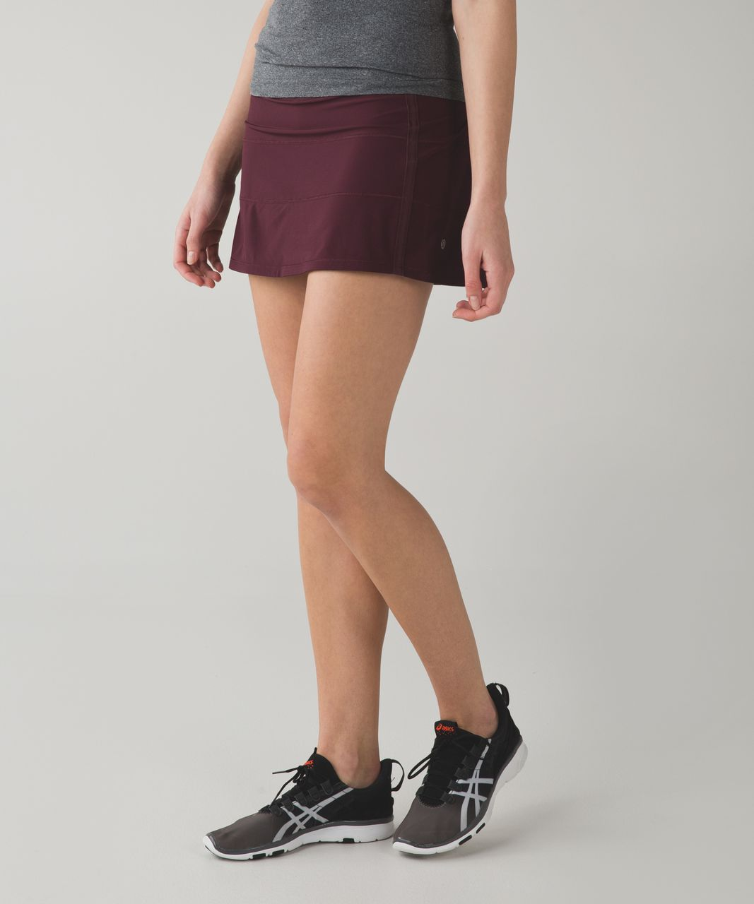 Lululemon Pace Rival Skirt II (Tall) *4-way Stretch - Bordeaux Drama / Space Dye Twist Naval Blue Very Light Flare