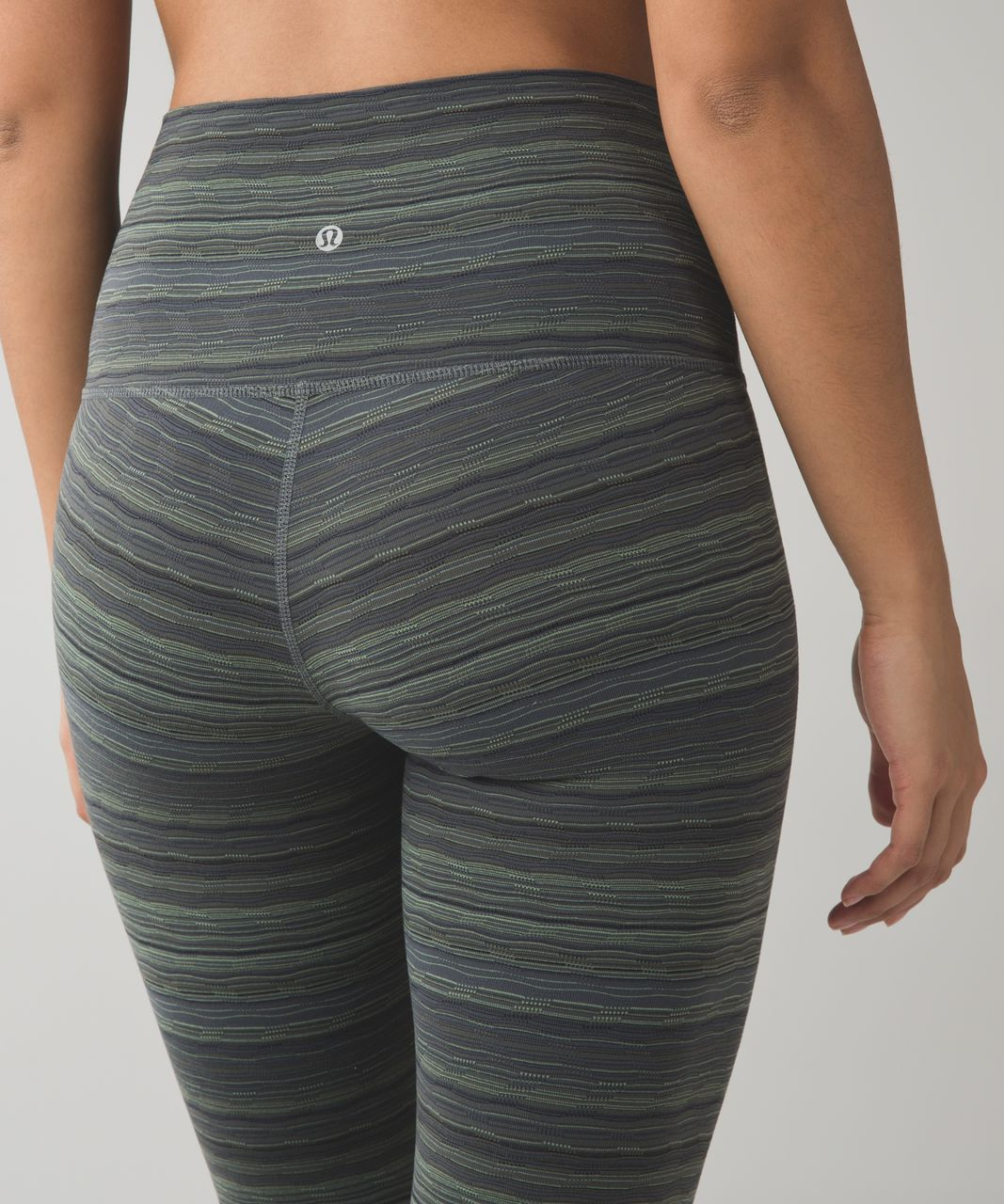 Lululemon Wunder Under Pant (Hi-Rise) - Space Dye Twist Dark Slate Fatigue Green