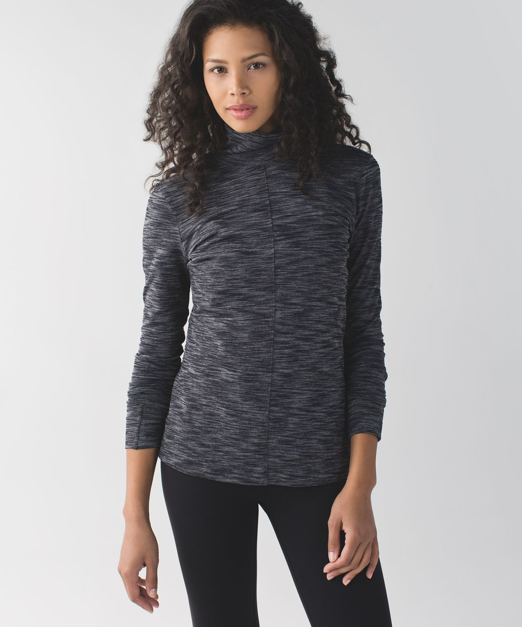 Lululemon &go Take-Off Long Sleeve - Heathered Black