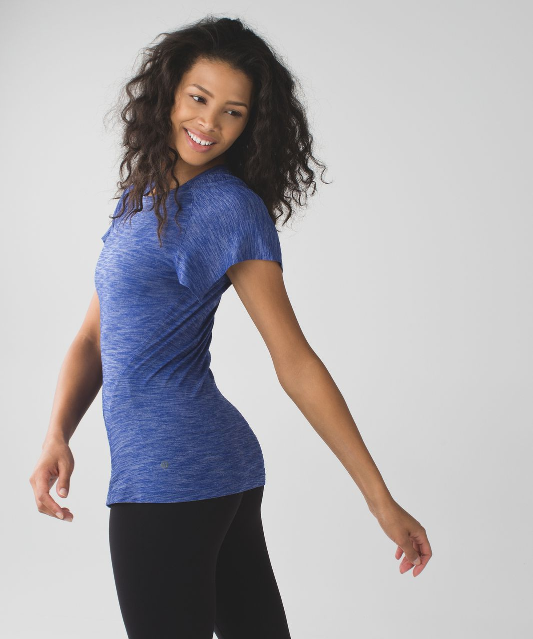 Lululemon &go Take-Off Tee - Heathered Sapphire Blue