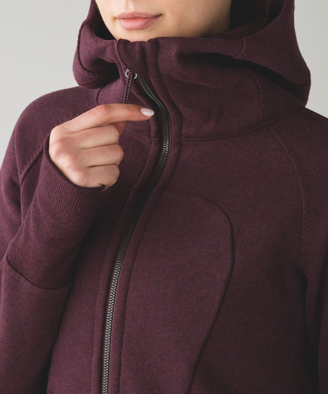 Lululemon Pleat To Street Hoodie - Heathered Bordeaux Drama