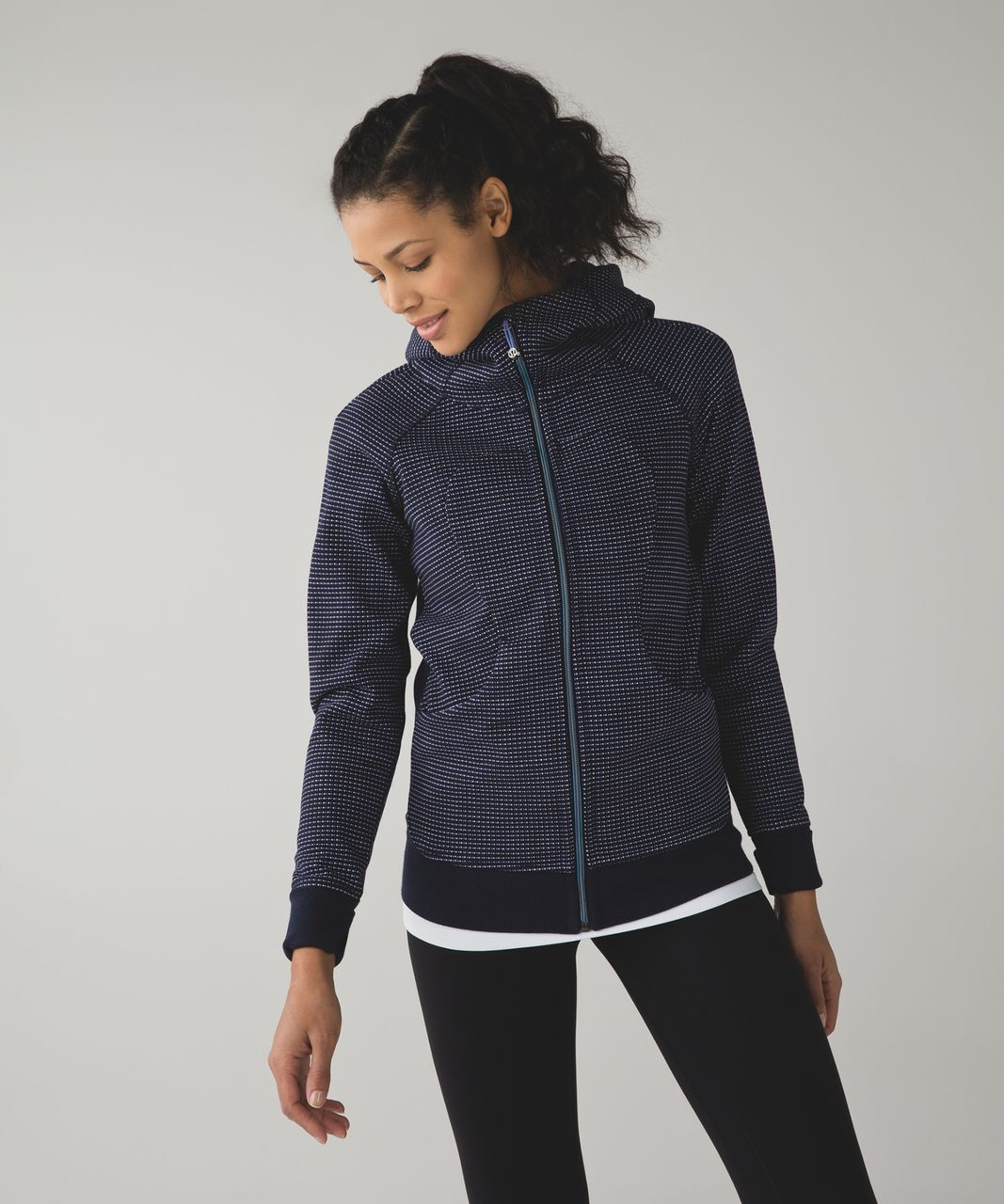 Lululemon Scuba Hoodie III - Double Dot Naval Blue Lullaby / Naval Blue
