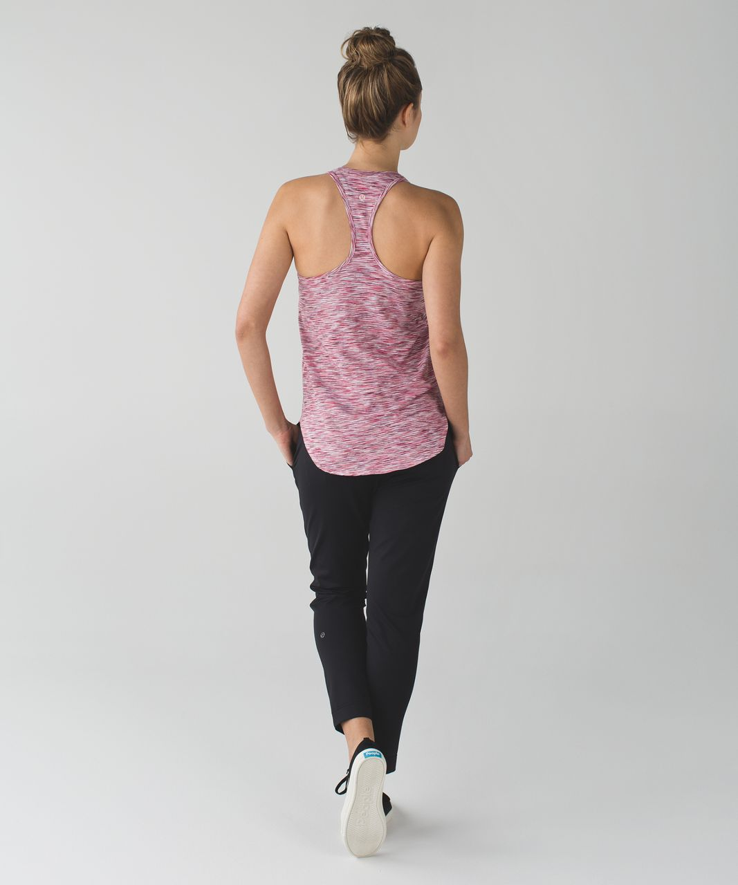 Lululemon Yogi Racer Back III - 4 Color Space Dye White Minty Pink