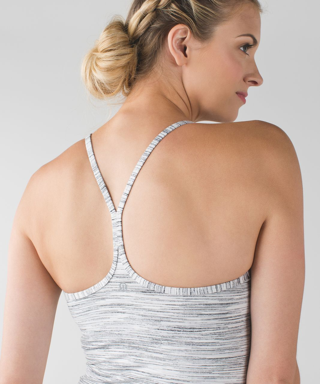 Lululemon Power Y Tank *Luon - Space Dye Camo White Silver Spoon