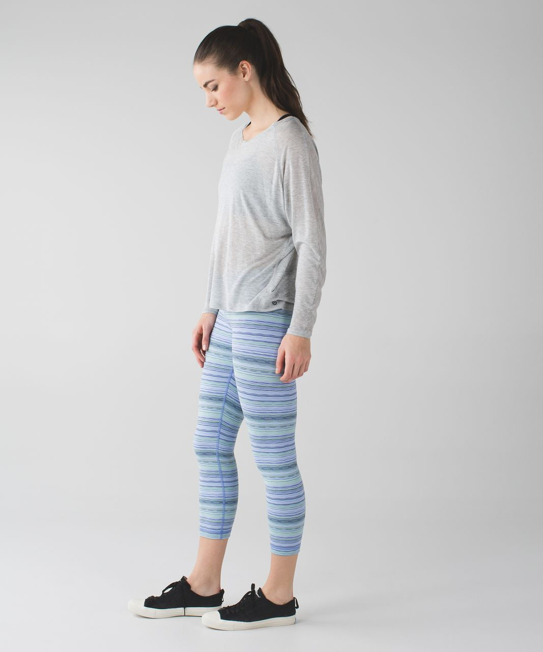 Lululemon Wunder Under Crop III - Space Dye Twist Lullaby Ray