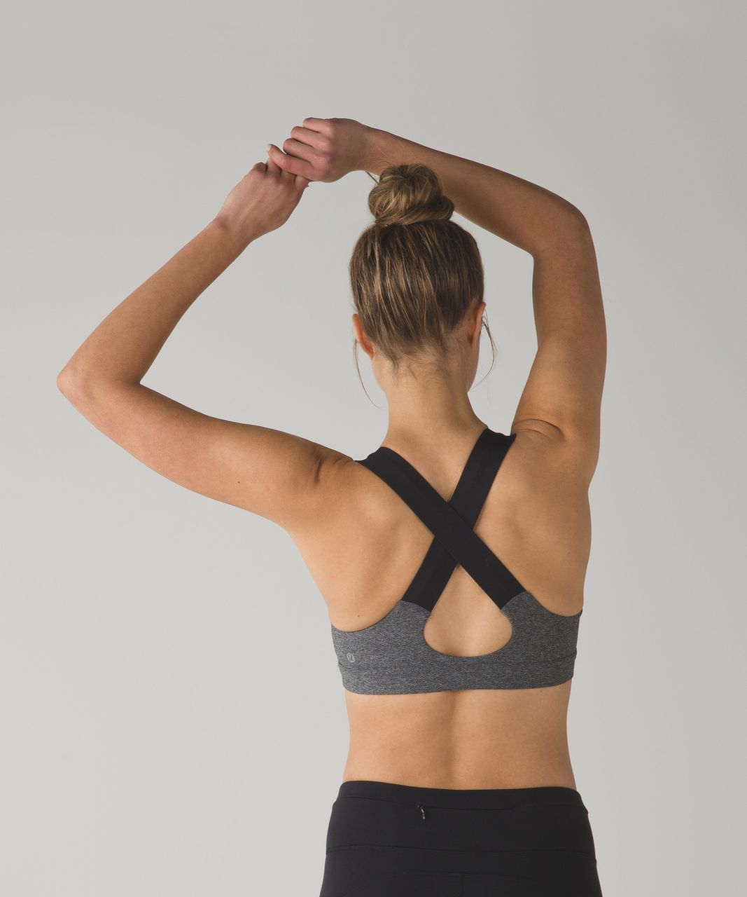 Lululemon All Sport Bra III - Heathered Black / Black